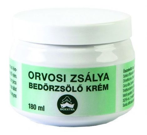 Zsálya bedörzsölőkrém Bioextra reumára 180 ml