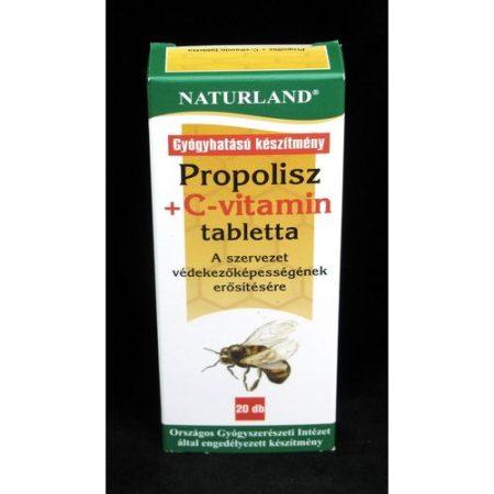 Naturland Propolisz+C vitamin tabletta 20x