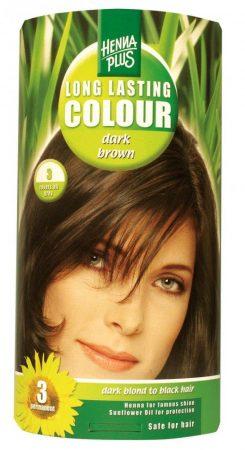 Henna plus hajfesték növényi 92 sötét barna 3