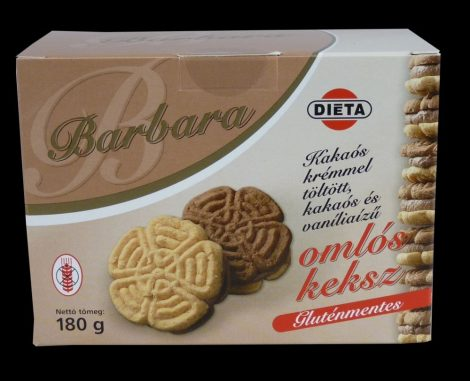 Barbara gluténmentes kakaós-vaníliás linzer 180 g