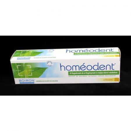 Homeodent 2 homeopátiás fogkrém citrom ízű 75 ml