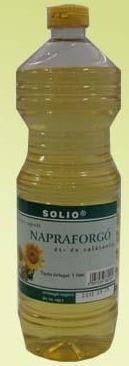 Solio hidegen sajtolt napraforgóolaj 1 l