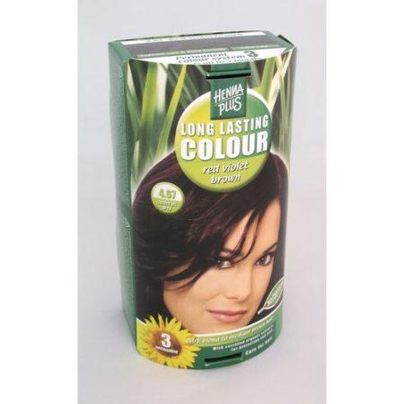 Henna plus hajfesték L.L. növényi lilásbarna 4,67