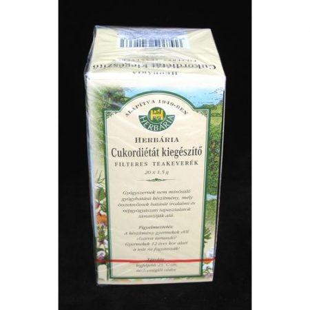 Herbária cukordiétát kiegészítő filter tea 20x1.5 g