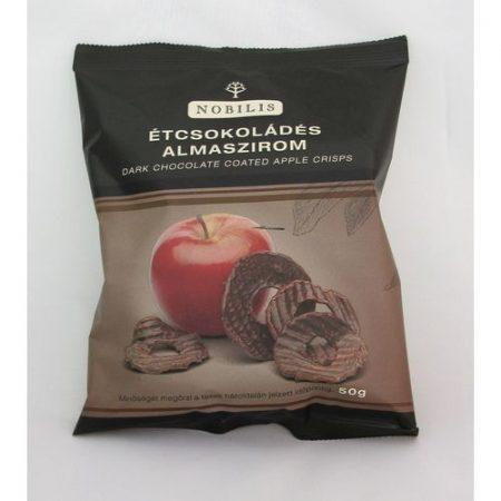 Aszalt almaszirom NOBILIS étcsokoládés 50 g