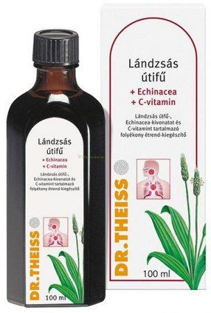 Dr Theiss Lándzsás útifű Echinacea + C vitamin 100 ml