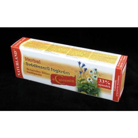 Naturland Herbal svédkeserű fogkrém+ C vitamin 100 ml