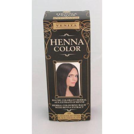 Henna color krémhajfesték 19 feketecsokoládé 75 ml