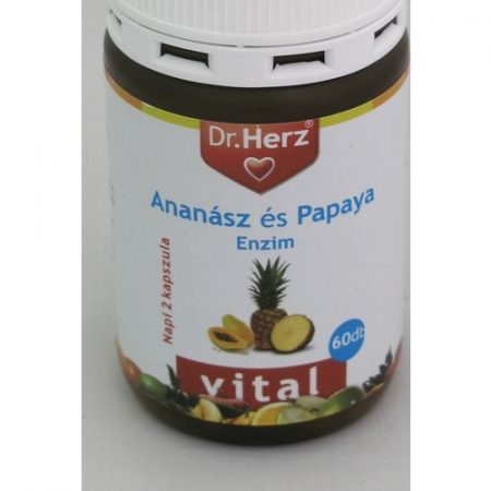 Dr Herz Ananász Papaya kapszula 60x