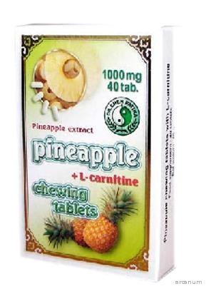 Ananász rágótabletta L-karnitinnel dr Chen 40x