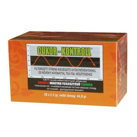 Cukor Kontroll filteres tea 20x