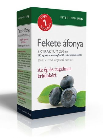 INTERHERB NAPI1 Fekete áfonya Extraktum kapszula 250 mg 30db
