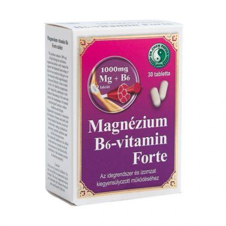 Magnézium B6-vitamin Forte 1000 mg tabletta Dr. Chen 30x