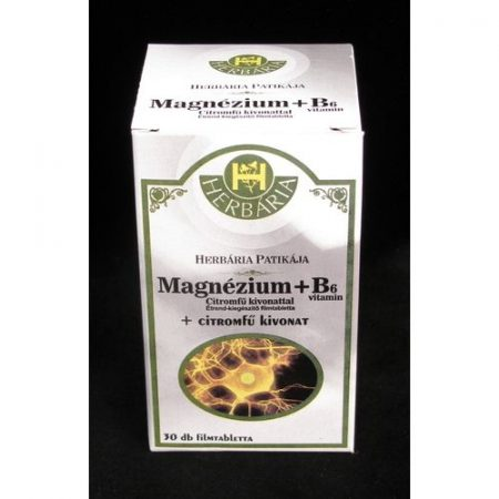 Herbária Magnézium+B6 citromfű filmtabletta 30x