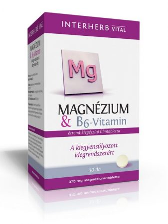 INTERHERB VITAL Magnézium + B6-vitamin tabletta 30db
