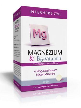 INTERHERB VITAL Magnézium + B6-vitamin tabletta 30db